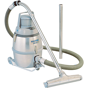 stainless steel vacuum cleaning with hose and nozzle