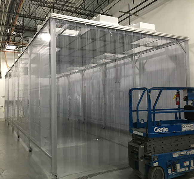 stainless steel and vinyl softwall enclosure