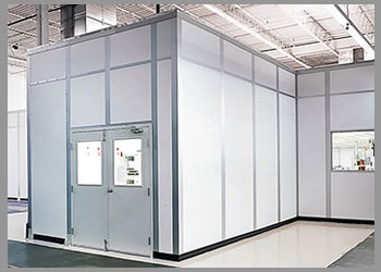 white prefabricated office
