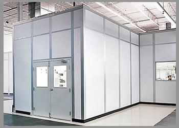 white prefabricated office
